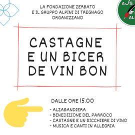 8 Dicembre: CASTAGNE E UN BICER DE VIN BON con gli alpini di Tregnago
